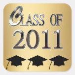 Class Of 2011 Graduation Square Sticker