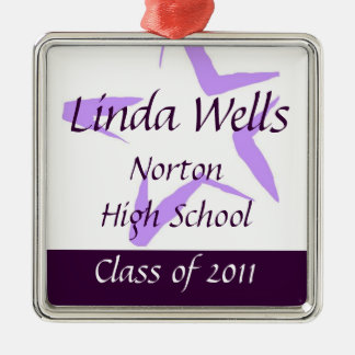 Class of 2011 Heart Keepsake Silver-Colored Square Decoration