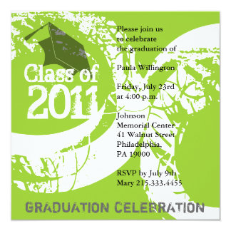 Class of 2011 Invitation AG215 Green Paint