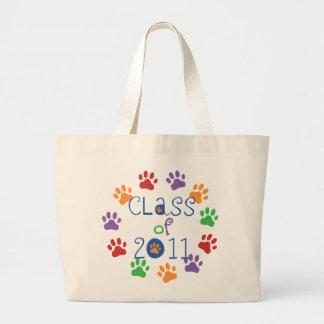 Class of 2011 Paw Prints Jumbo Tote Bag