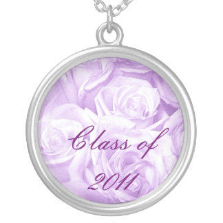 Class of 2011_ silver plated necklace