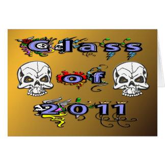 Class of 2011 - Skulls Greeting Card