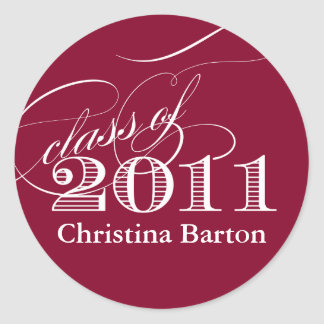 Class of 2011 Sticker- Customize it! Classic Round Sticker