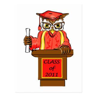Class of 2011 Wise Owl Graduate Postcard