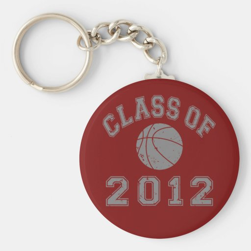 Class Of 2012 Basketball - Grey 2 Key Chains