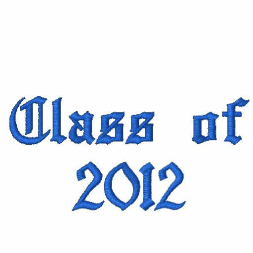 Class of 2012 - Blue Embroidered Hoody