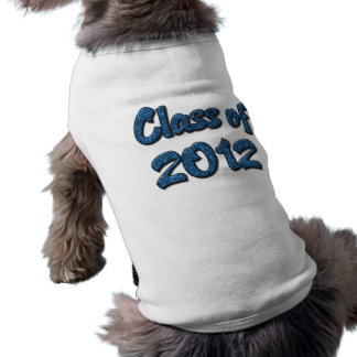 Class of 2012 - Blue Sleeveless Dog Shirt