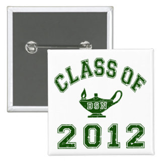 Class of 2012 BSN - Green 15 Cm Square Badge