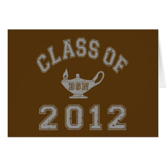 Class Of 2012 BSN - Grey Greeting Card