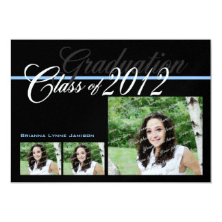Class of 2012 Classic Black Tri Photo Card