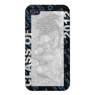 Class of 2012 Cut Out Photo Frame - Blue and Black Cases For iPhone 4