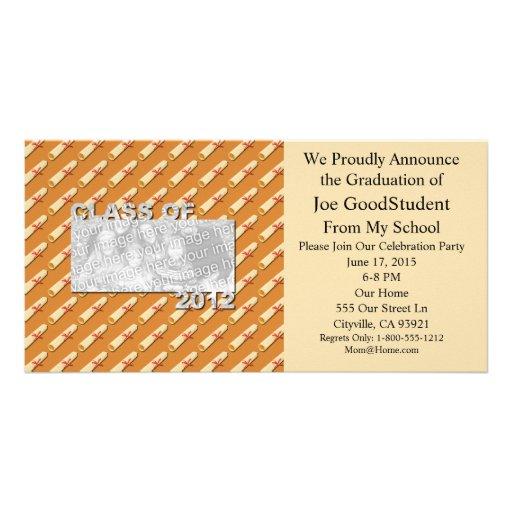 Class of 2012 Cut Out Photo Frame - Diplomas Custom Photo Card