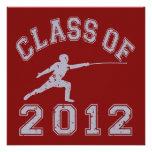 Class Of 2012 Fencing - Grey 2 Custom Invitation