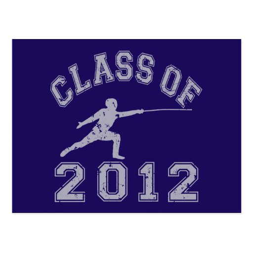 Class Of 2012 Fencing - Grey 2 Post Cards