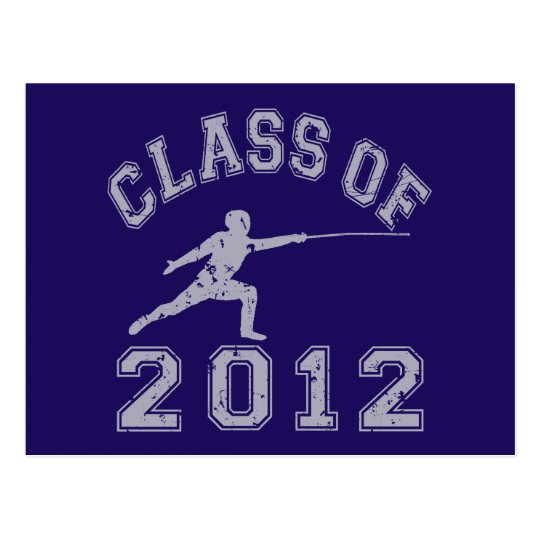 Class Of 2012 Fencing - Grey 2 Postcard