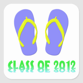 Class Of 2012 Flip Flop - YBGT Square Sticker