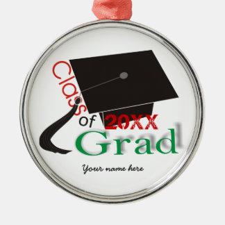 Class of 2012 Grad Graduation cap custom ornaments