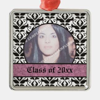 Class of 2012 Grad Graduation damask photo Christmas Tree Ornament