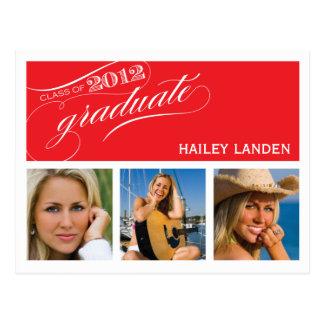 Class of 2012 Graduation Invitation Postcard | Red