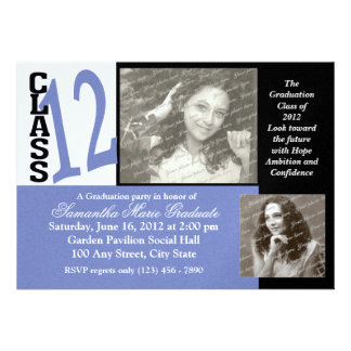 Class of 2012 Graduation Photo Custom Invites