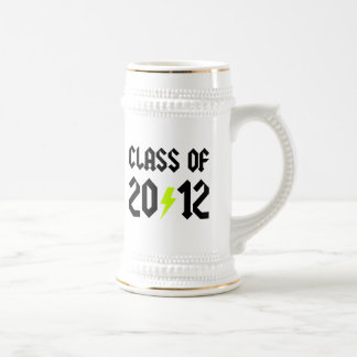 Class Of 2012 Graduation Yellow Bolt Beer Stein