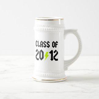 Class Of 2012 Graduation Yellow Bolt Beer Steins