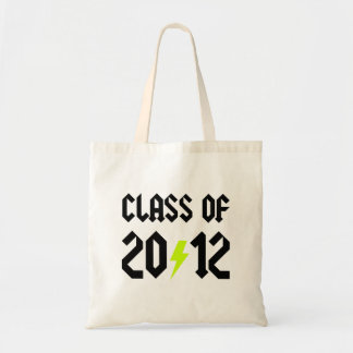 Class Of 2012 Graduation Yellow Bolt Budget Tote Bag