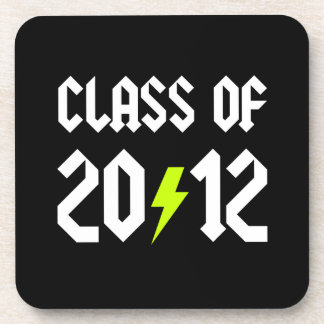 Class Of 2012 Graduation Yellow Bolt Coasters