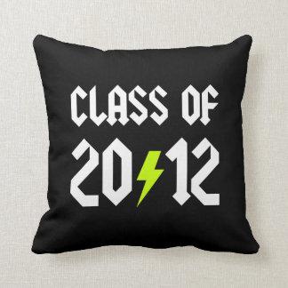 Class Of 2012 Graduation Yellow Bolt Cushion