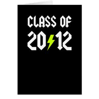 Class Of 2012 Graduation Yellow Bolt Greeting Card