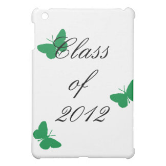 Class of 2012 - Green and White Butterfly Cover For The iPad Mini