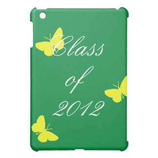 Class of 2012 - Green and Yellow Butterfly iPad Mini Cases