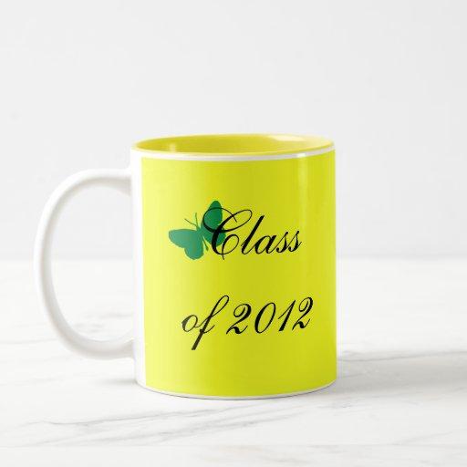 Class of 2012 - Green and Yellow Butterfly Coffee Mug