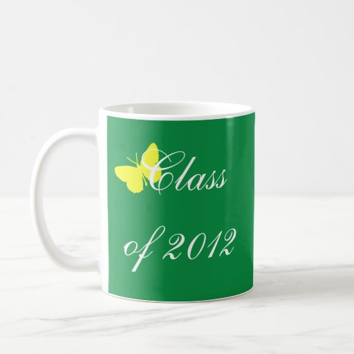 Class of 2012 - Green and Yellow Butterfly Mug