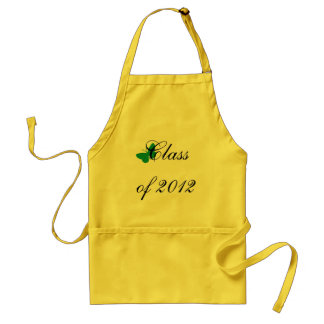 Class of 2012 - Green and Yellow Butterfly Standard Apron
