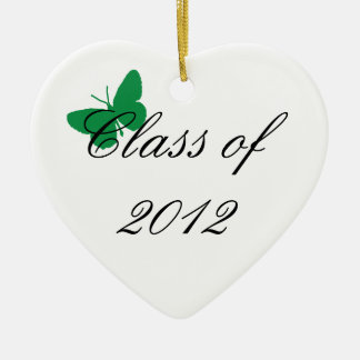 Class of 2012 - Green Ceramic Heart Decoration