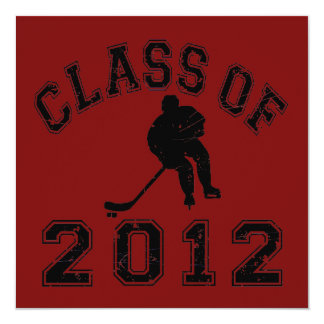 Class Of 2012 Hockey - Black 2 D Card