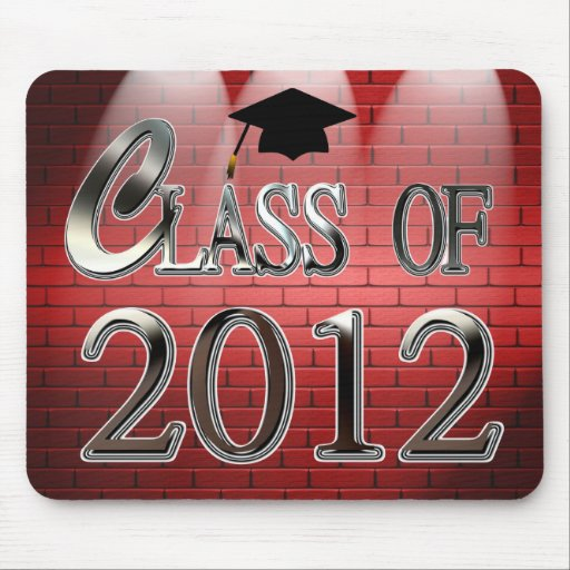 Class Of 2012 In Spotlights Graduation Mousepad Mouse Pads
