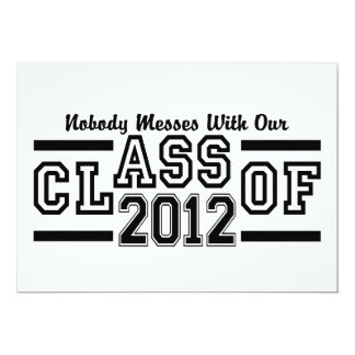 CLASS OF 2012 invitation, customize Card