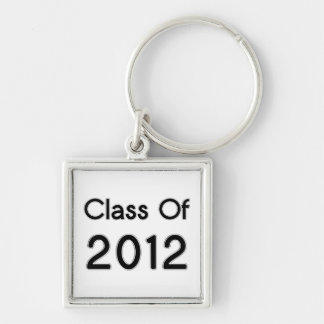 Class of 2012 Keychain Black and Chrome