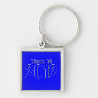 Class of 2012 Keychain Blue and Silver
