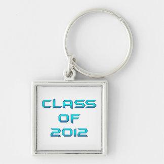 Class of 2012 Keychain Metallic Blue