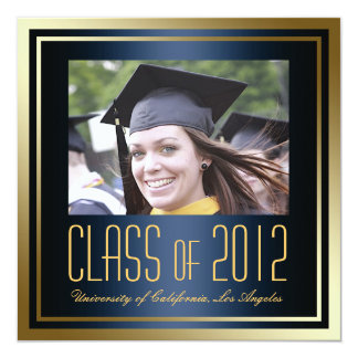Class of 2012, Navy and Gold Graduation Invite