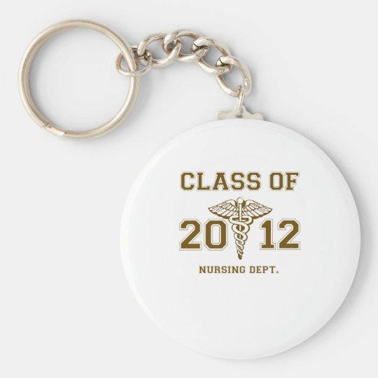 Class of 2012 Nursing Dept. Basic Round Button Key Ring
