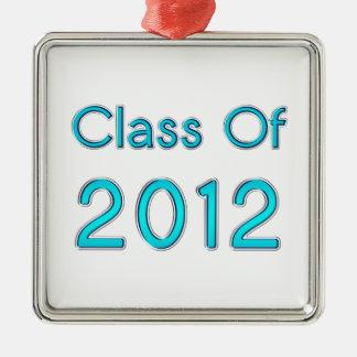 Class of 2012 Ornament Aqua Blue