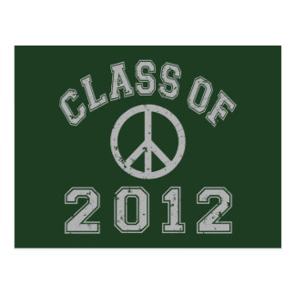 Class Of 2012 Peace -Grey 2 Postcard
