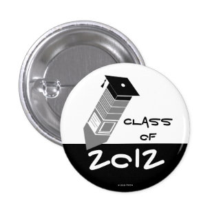 Class Of 2012 Pencil Button Black