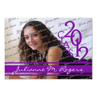 Class of 2012 Photo Purple Card