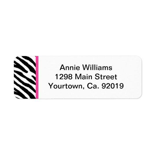 Class of 2012 Pink and Black Zebra Stripe