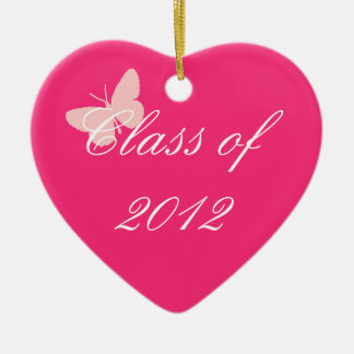 Class of 2012 - Pink Butterfly Christmas Tree Ornaments